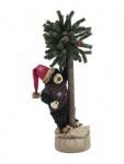 Vánoční medvěd se stromkem 105cm