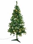 Vánoční stromek s bílými LED žárovkami 180 cm