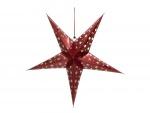 Europalms Star Lantern, papírová hvězda 75cm, červená