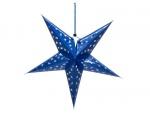Europalms Star Lantern, papírová hvězda 75cm, modrá