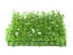 Umělá tráva, zeleno-bílá, 25 x 25 cm